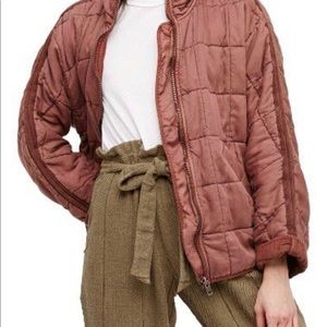Brand New Free People Dolman Quilted Knit Jacket